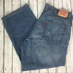 Mens Levi's 569 Loose Fit Straight Leg Jeans 40X30